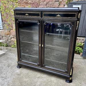Mid-19th Century French Ebonised Bookcase